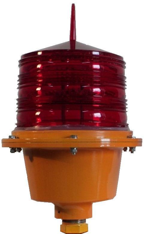 砖烟囱安装航标灯_HD100-S1型LED航标灯_上海视觉航标机电有限公司